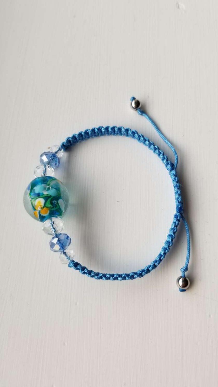 Blue Floral Bracelet 2
