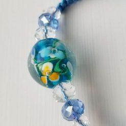 Blue Floral Bracelet 7