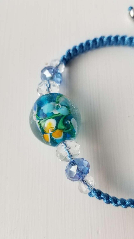 Blue Floral Bracelet 3