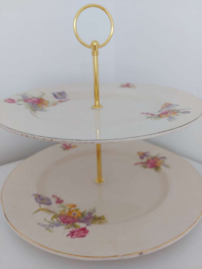 2 tier cake stand 'Grace'