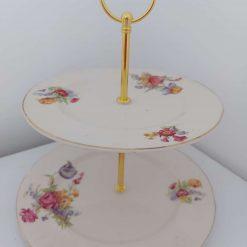 2 tier cake stand 'faith'