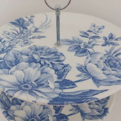 Blue flowers cake stand