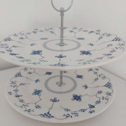 Blue and white cake stand 7