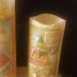 5 Rosy Christmas Wax Candle Set (battery with remote) 7
