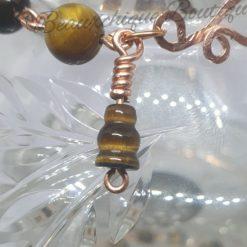 Tigerseye Bracelet - Copper Link Bracelet 7