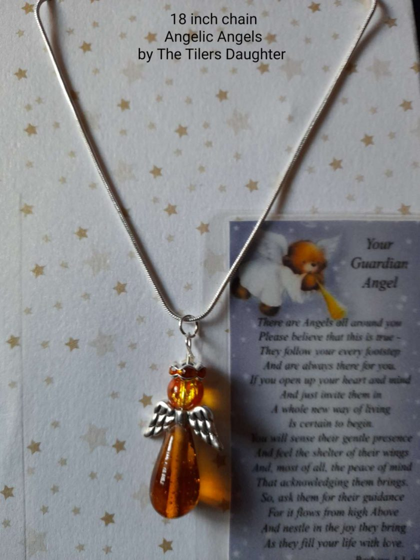 Angel charm necklace 1