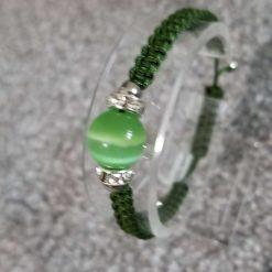 Green Cats eye Gemstone Bracelet