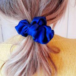 Hair scrunchie. Pure silk.   Handmade. Organza gift bag included