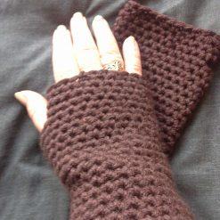 Ladies crocheted fingerless gloves (Copy)