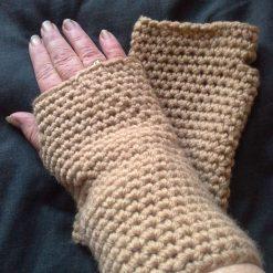 Ladies crocheted fingerless gloves