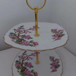 "Vintage 2 tier ""Juliet"" cake stand"