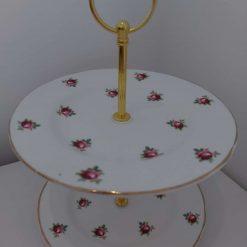 """Vintage cake stand """"flora"""""""