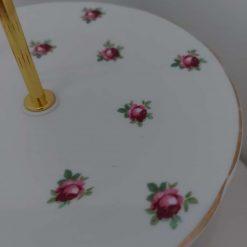 """Vintage cake stand """"flora"""" 2"""