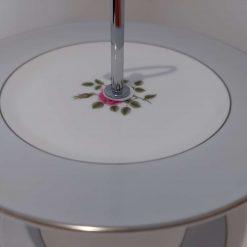 Vintage tier grey cake stand. 2