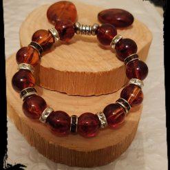 Red glass bead bracelet