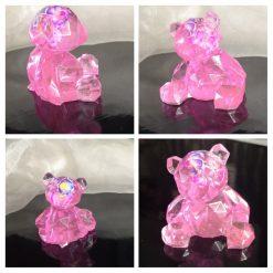 Pink resin Teddy