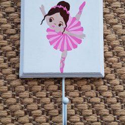 Hand Painted Coat Hook - Ballerina