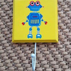 Hand Painted Coat Hook - Robot
