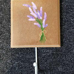 Hand Painted Coat Hook - Lavender