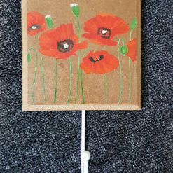 Hand Painted Coat Hook - Poppies