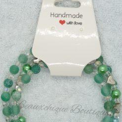 Seabreeze - Green Cracked Glass Bracelet 17