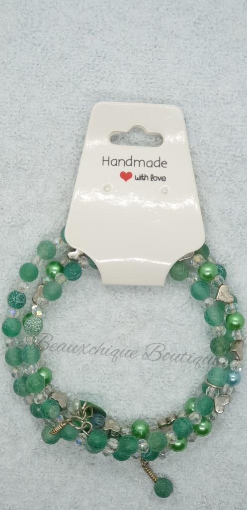 Seabreeze - Green Cracked Glass Bracelet 9