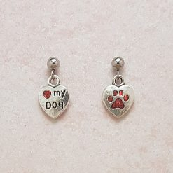 -Individually Priced- Love My Dog Necklace, Earrings, Bracelet, JewellerySet | Tibetan Silver Charm Birthday Christmas Mothers Mother's Day Valentine Anniversary Easter Gifts Gift Set Ideas