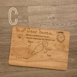 Santa wooden treat board