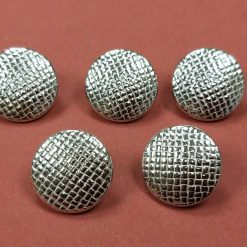 21mm Domed Basket Weave Button (5 Pack) - Re-Enactment, Living History