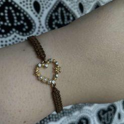 Handmade Macrame Elephant Charm Bracelet with adjustable clasp.