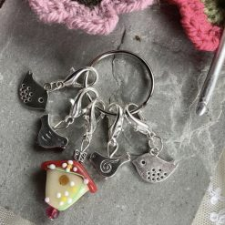 Bird crochet stitch markers, holders, keepers