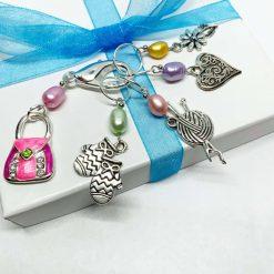 Handbag Stitch Markers, Stitch Markers, Progress Markers,Knitting stitch markers