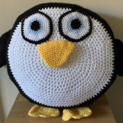 Crochet Penguin Cushion