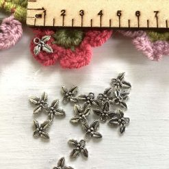 10 x holly and berries Tibetan silver charms 1.5cm 1