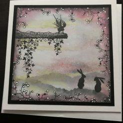 Mistletoe fairy card