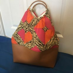 Faux leather patchwork bag 6