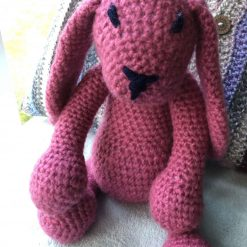Hand made crochet bunny soft and cuddly sold. Please order