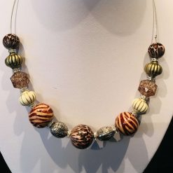 Chunky jungle themed necklace
