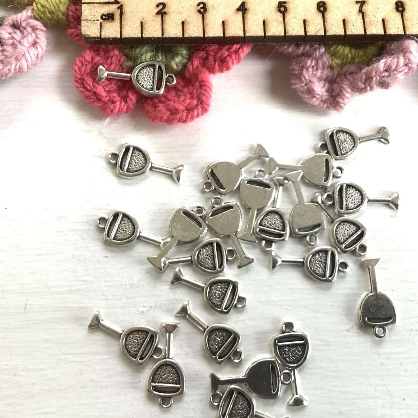 10 x holly and berries Tibetan silver charms 1.5cm