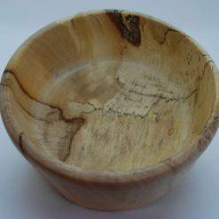 Hand turned highly figured spalted chestnut bowl
