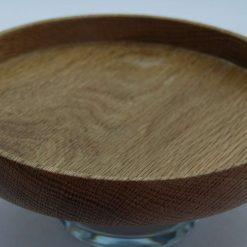 Handmade reclaimed simple oak platter
