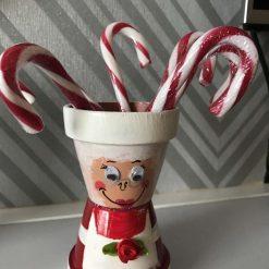 Mini Pot Person (Mrs Santa)