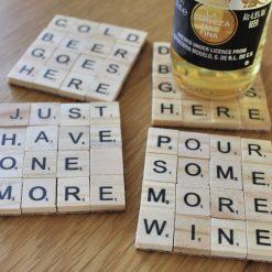 Scrabble letter drinks coaster