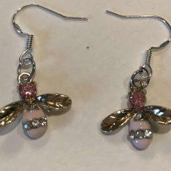 Delicate bee earrings