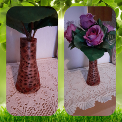 - Wood turned - Banksia Nut Vase with waterproof liner (unique, one off piece)
