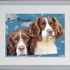 Bespoke personal pet portrait from photo. Custom pet print, in time for Christmas. Dog / cat / budgie portrait 19
