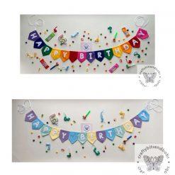Mini happy birthday bunting