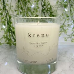 Essential oil candle : Clove, Clary Sage and Grapefruit