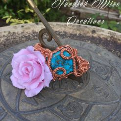 Copper Turquoise Cuff Bracelet 5