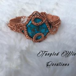 Copper Turquoise Cuff Bracelet 6